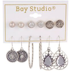 Bay Studio 6-pc Studs, Hoop, & Dangle Earring Set