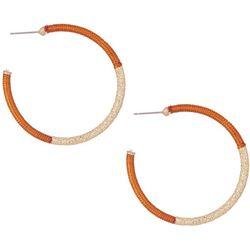 Bay Studio Goldtone Thread Wrapped C-Hoop Earrings