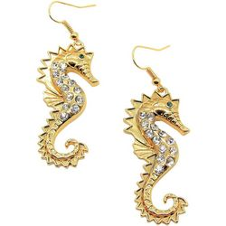 Bay Studio Rhinestone Seahorse Linear Earrings