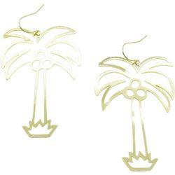 Bay Studio Gold Tone Palm Tree Statement Earrings