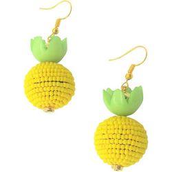 Bay Studio Seedbead Pineapple Ball Drop Earrings