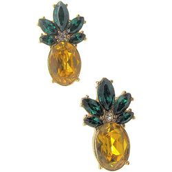 Pineapple Post Back Stone Earrings