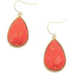 Bay Studio Red Sparkle Teardrop Earrings