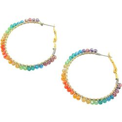 Bay Studio Multi Bead Wrap Clutchless Hoop Earring