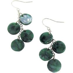 Bay Studio Green Marble Cluster Disc Earrings