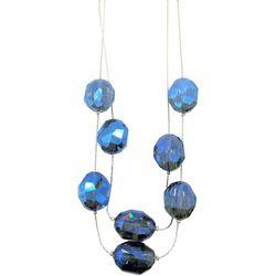 Bay Studio Blue Multi Facet Bead Illusion Necklace
