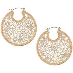 Bay Studio Gold Tone Filagree Hoop Earrings