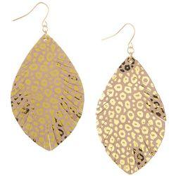 Bay Studio Leopard Marquise Dangle Earrings