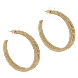 Bay Studio Goldtone Wire Wrapped C- Hoop Earrings