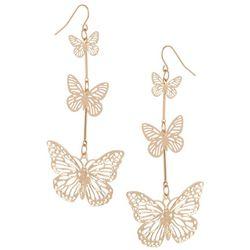 Bay Studio Triple Butterfly Drop Earrings