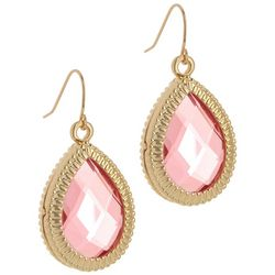 Bay Studio Pink Faceted Teardrop Earrings