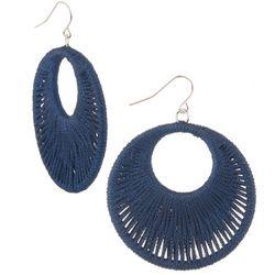 Bay Studio Blue String Wraped Round Drop Earrings