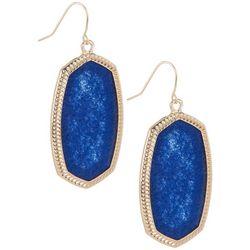 Bay Studio Silver Tone Blue Geometric Drop Earrings