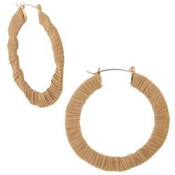 Bay Studio Faux Suede  Wrapped Hoop Earrings