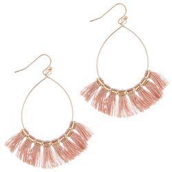 Bay Studio Pink Tassel Dangle Earrings