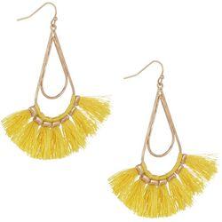 Bay Studio Yellow Tassel Dangle Earrings