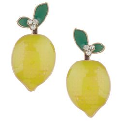 Bay Studio Enamel Lemon Post Earrings