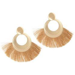 Bay Studio Gold Fringe Post Hoop Earrings