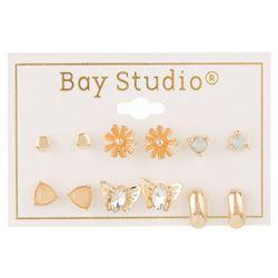 Bay Studio 6-pc Butterfly & Flower Stud Earring Set