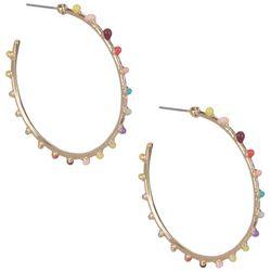 Bay Studio Colorful Sead Bead C Hoop Earrings