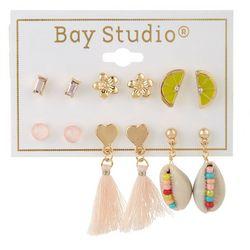 Bay Studio 6-pc Goldtone Stud Earring Set