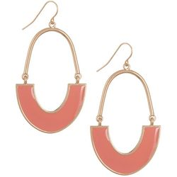 Bay Studio Goldtone Coral Cresent Drop Earrings