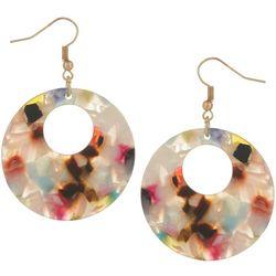 Bay Studio Multi-Color Hoop Dangle Earrings