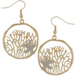 Bay Studio Two Tone Under The Sea Starfish Drop Earrings