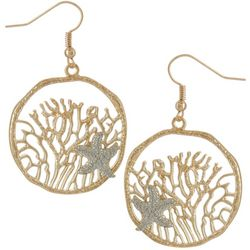 Bay Studio Two Tone Under The Sea Starfish Drop Earrings