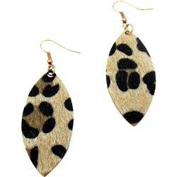 Bay Studio Fabric Leopard Drop Earrings