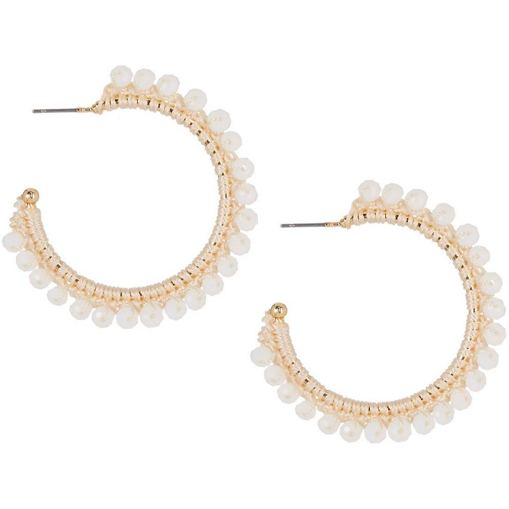 Bead Wrapped C-Hoop Earrings   Bealls