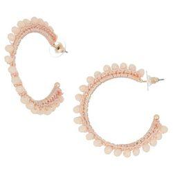 Bay Studio Bead Wrapped C-Hoop Earrings