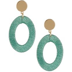 Bay Studio Thread Wrapped Ring Drop Earrings