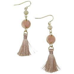 Bay Studio Gold Tone Bead & Tassel Earrings