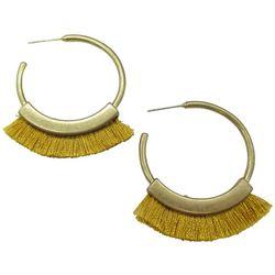 Bay Studio Matte Bronze Fringe C-Hoop Earrings
