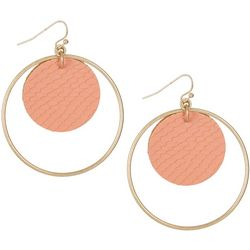 Bay Studio Snake Skin Disc Ring Drop Earrings