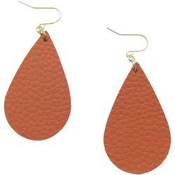 Bay Studio Faux Leather Teardrop Earrings