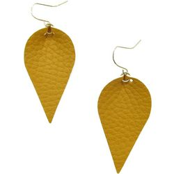 Bay Studio Faux Leather Leaf Drop Earrings
