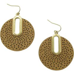 Bay Studio Textured Faux Leather Disc Earrings