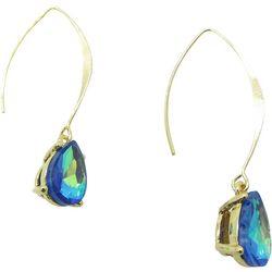 Blue Multi Teardrop Threader Earrings