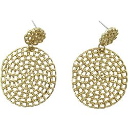 Bay Studio Spiral Double Disc Drop Earrings