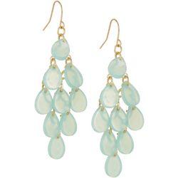 Bay Studio Turquoise Green Teardrop Chandelier Earrings