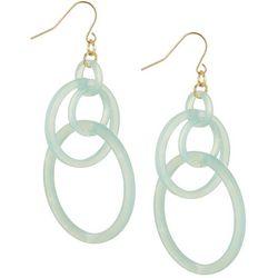 Bay Studio Turquoise Green Cascading Ring Earrings