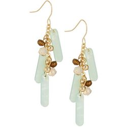 Bay Studio Turquoise Linear Bead Dangle Earrings