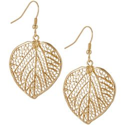 Bay Studio Gold Tone Leaf Dangle Earrings
