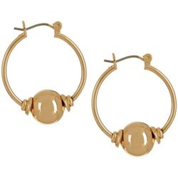 Bay Studio Gold Tone Ball Hoop Earrings