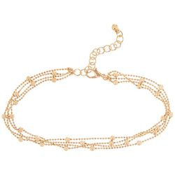 4 Row Bead Chain Ankle Bracelet