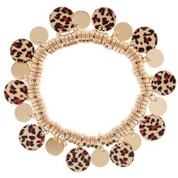 Bay Studio Leopard Disc Shaky Stretch Bracelet