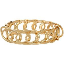 Bay Studio Gold Tone Link Stretch Bracelet