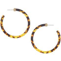 Bay Studio Large Tortoise Resin Hoop Earrings